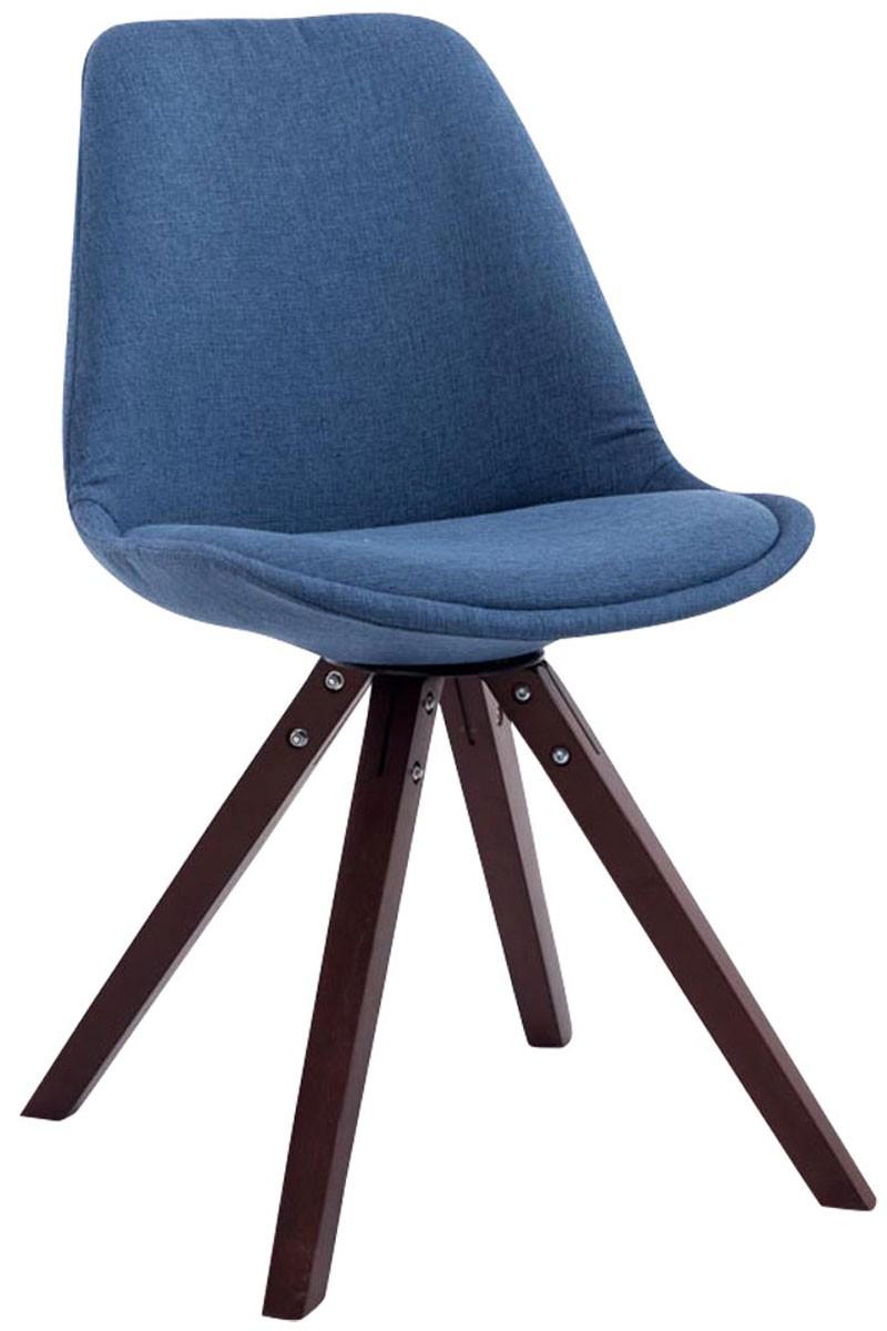 Chaise Toulouse tissu piétement en forme carrée