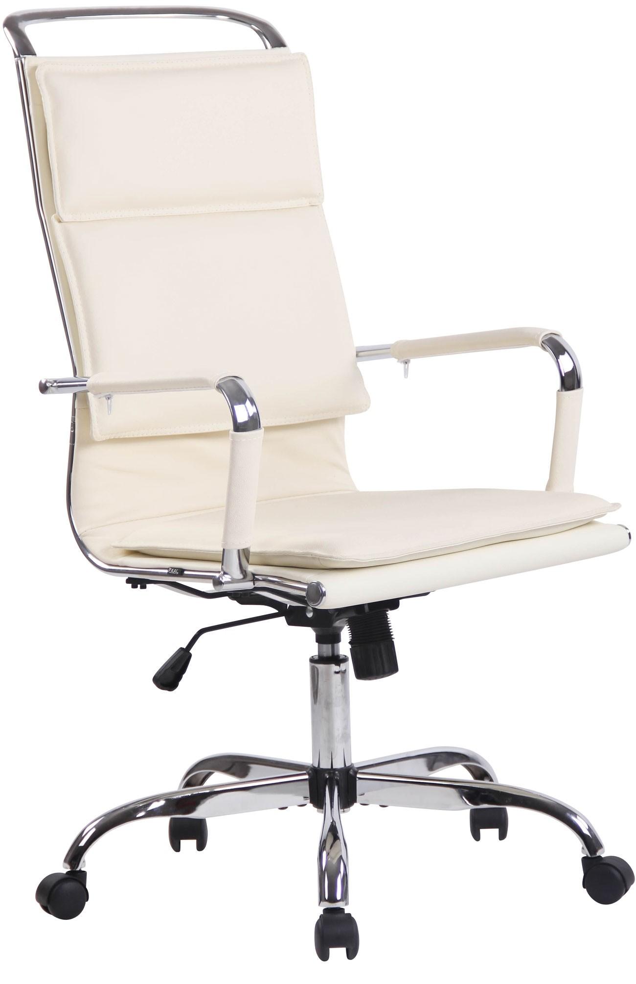 Chaise de bureau Bedford en similicuir et veritable cuir