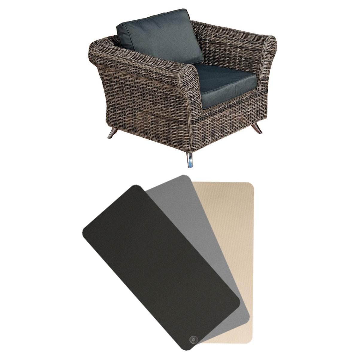 Housse de coussin fauteuil de jardin Vivari