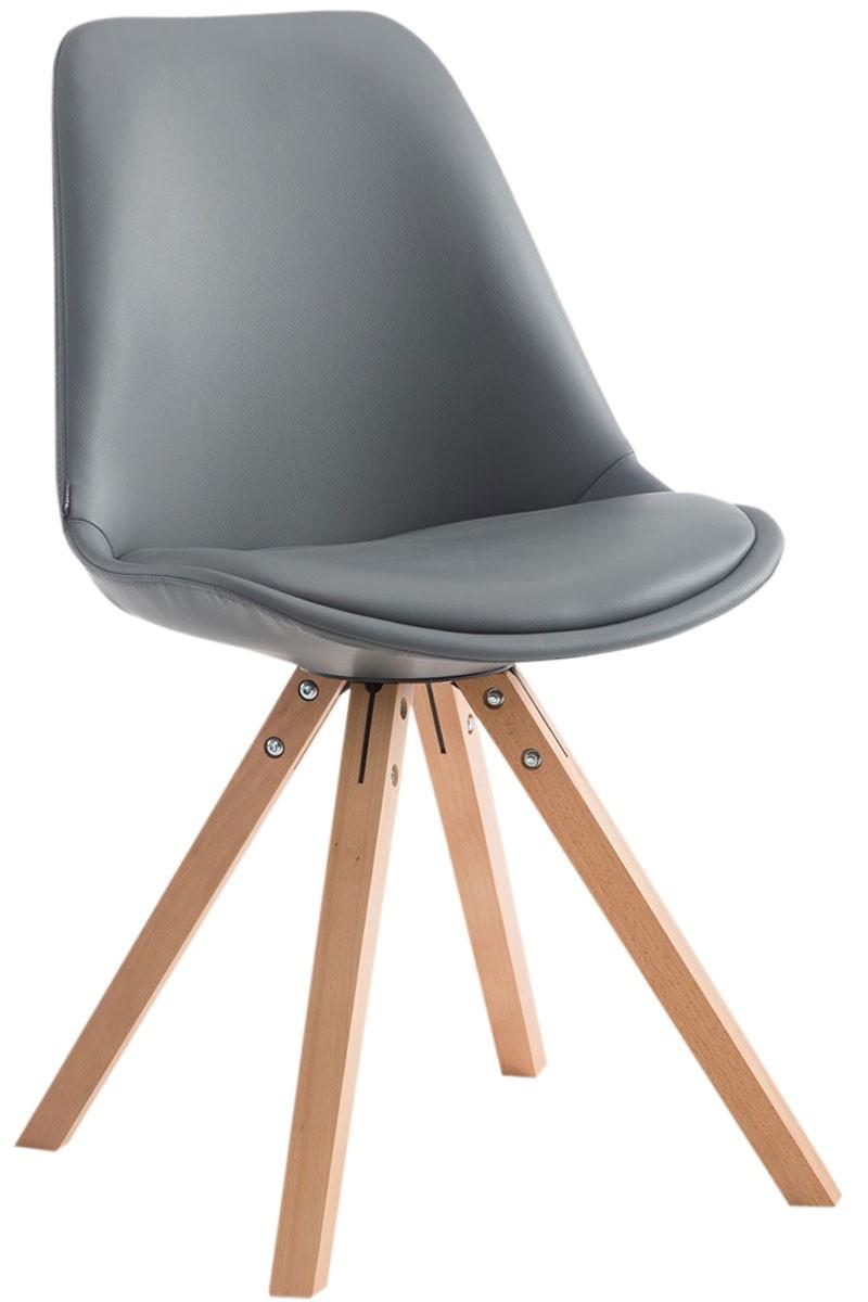 Chaise de visiteur Laval pieds carrés nature