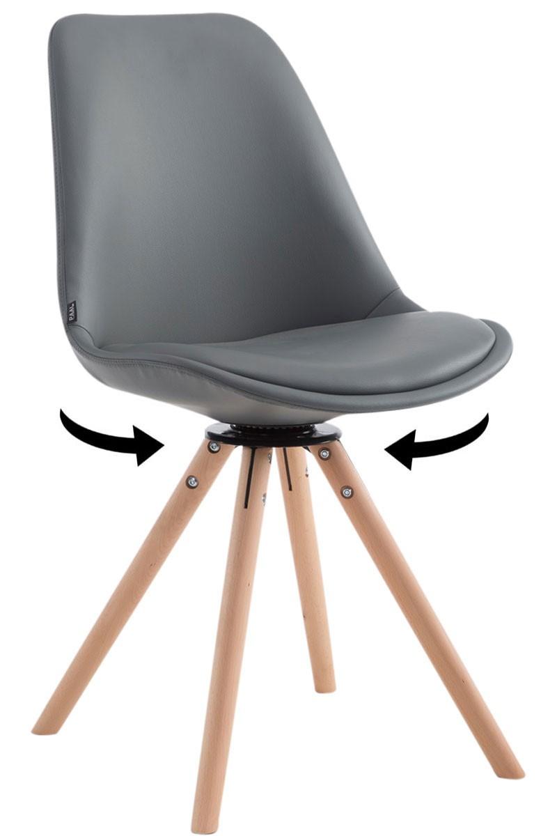 Chaise de visiteur Calais pivotante pieds ronds