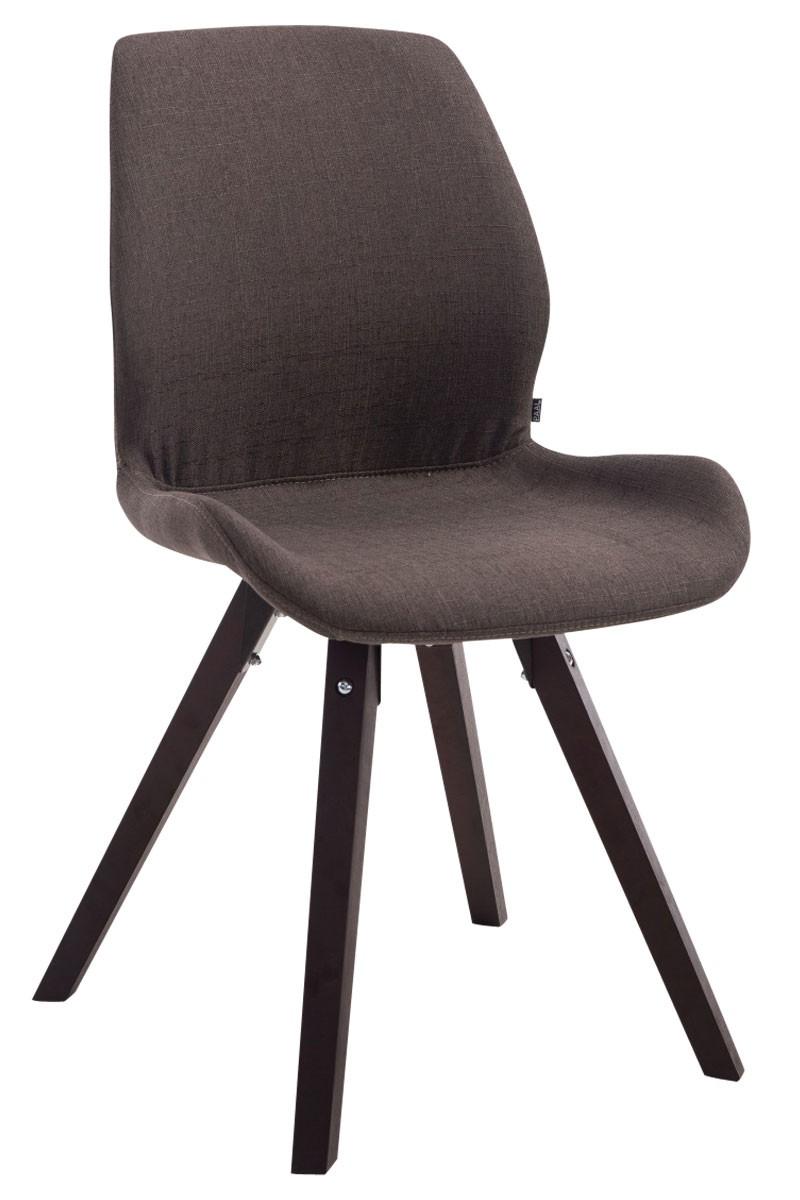 Chaise visiteur Perth tissu pieds carrés
