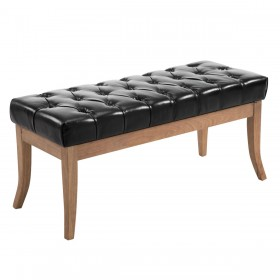 Banc Ramses similicuir antique clair