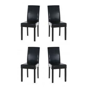 Lot de 4 chaises de salle à manger Ina Noir