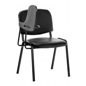 Chaise Ken en similicuir avec tablette rabattable
