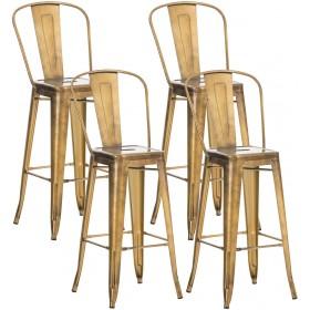 Lot de 4 tabourets de bar Design Aiden
