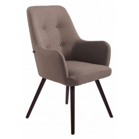 Chaise lounge Aarhus tissu avec Pieds en bois