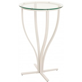 Table ronde Rosario blanc mat