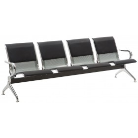 Banc 4 places zone d'attente / Chaises sur poutre en similicuir Airport