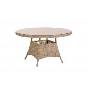 Table ronde avec un plateau en verre Stavanger