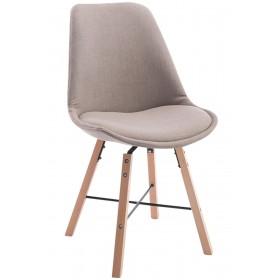 Chaise de visiteur Laffont tissu nature