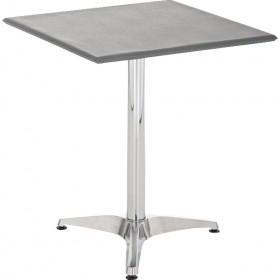 Table d'appoint plateau en similicuir