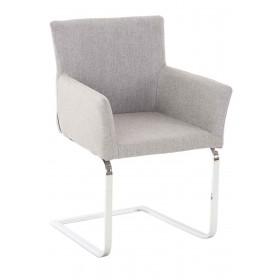 Chaise de visiteur Pirus tissu