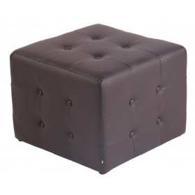 Tabouret pouf Cubic 44 x 44 cm similicuir