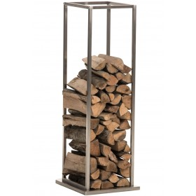 Porte Bûches pour cheminée Reto 33x33x115