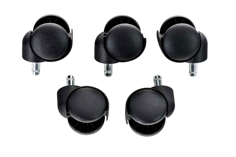 Set Roulettes Chaises Bureau De En Plastique Fauteuil 5 Pour 534RqjAL